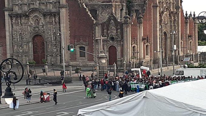 Foto Contingente de Antorcha Campesina en el Zócalo Capitalino 31 julio 2019