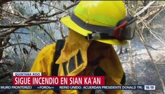 FOTO: Continúa incendio en la biosfera de Sian Ka´an en Quintana Roo, 27 Julio 2019
