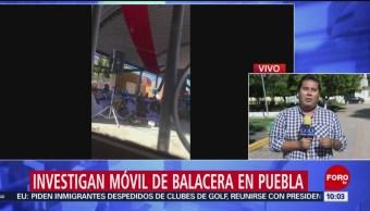 FOTO: Continúan las investigaciones sobre balacera en escuela de Puebla, 6 Julio 2019