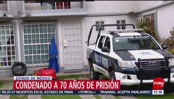 Foto: 70 años prisión homicida familia Edomex