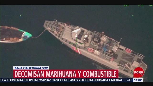 Decomisan marihuana y combustible en Baja California Sur