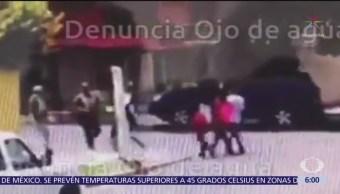 Delincuentes asaltan a jovencitas en calles de Tecámac, Edomex