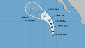 La madrugada de este lunes se ha formado la depresión tropical 5-E en el Océano Pacífico; hasta el momento no afecta al país. (NOAA)