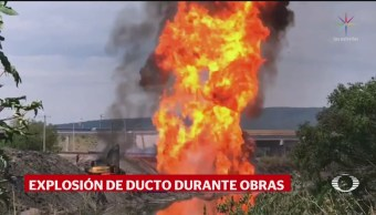 Foto: Explosión Ducto Celaya Guanajuato 1 Julio 2019