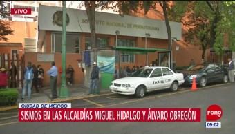 Desalojan hospital por sismos registrados en la alcaldía Álvaro Obregón, CDMX