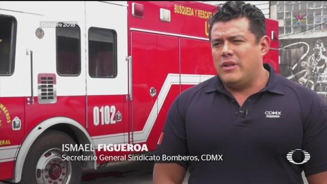 Foto: Desconocen Ismael Figueroa Lider Bomberos CDMX 10 Julio 2019