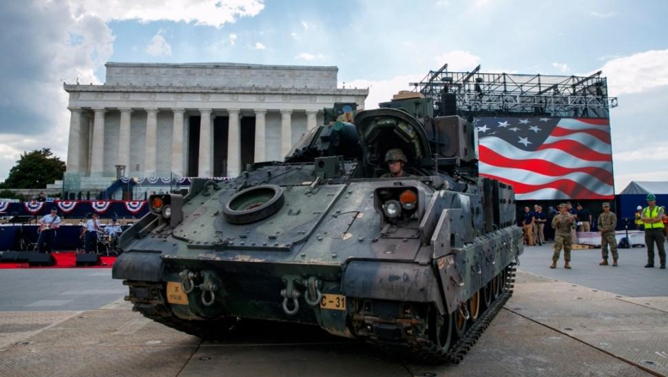 Foto: Estados Unidos celebrará Día de la Independencia con tanques y desfile militar, 3 de julio de 2019, Washington