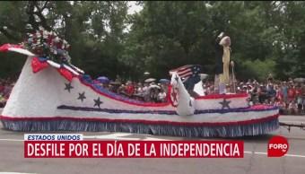 Foto: Desfile por el Día de la Independencia en Estados Unidos
