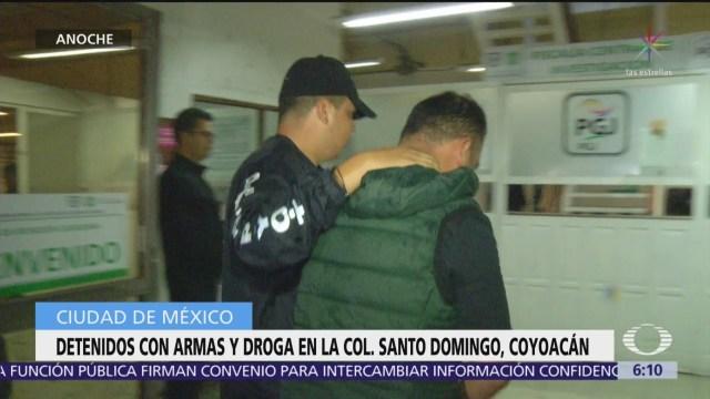Detienen a cinco delincuentes en Santo Domingo, Coyoacán