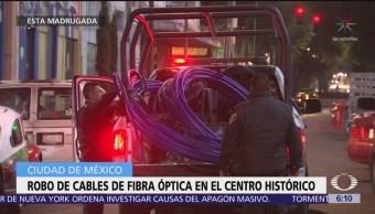 Detienen a dos ladrones de fibra óptica en el Centro Histórico