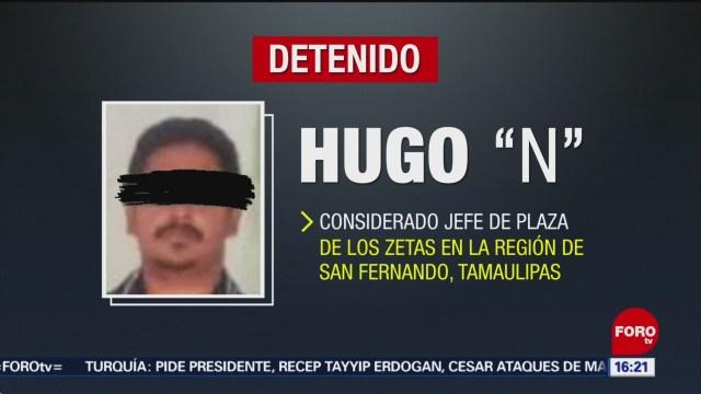 """FOTO: Detienen a """"El Ganso"""" considerado jefe de plaza de Los Zetas en Tamaulipas, 7 Julio 2019"""