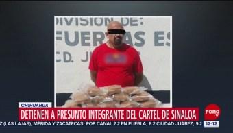 FOTO: Detienen a presunto integrante del Cártel de Sinaloa en C, 20 Julio 2019