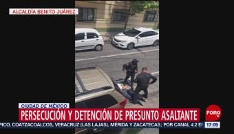 Detienen a sujeto que asaltó a cuentahabiente en Miguel Hidalgo