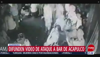 Foto: Difunden Video Ataque Bar Acapulco Guerrero 23 Julio 2019