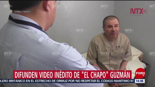 Difunden video de 'El Chapo' antes de que fuera extraditado a Estados Unidos