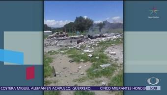 Dos muertos por explosión de polvorín en Tlaxcala