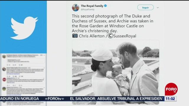 FOTO: Duques de Sussex difunden foto del bautizo de su hijo Archie, 6 Julio 2019