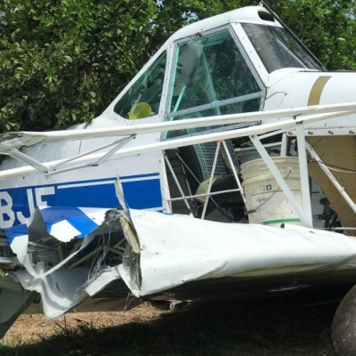 Se desploma avioneta en Colima, no hay heridos