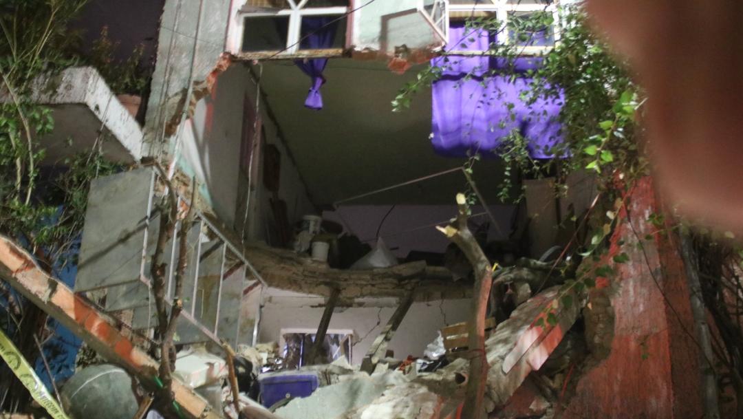 La casa quedó totalmente destruida, 26 de julio de 2019 (Twitter @UMPCyBZ)