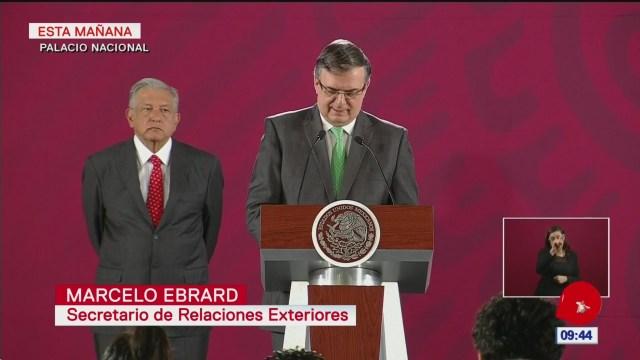 Ebrard: México, listo para defender a migrantes mexicanos en EU