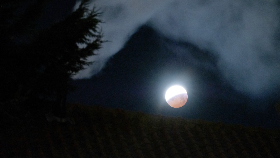 Foto: Eclipse lunar, 21 de enero de 2019, Países Bajos