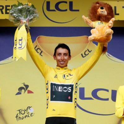 El colombiano Egan Bernal, virtual ganador del Tour de Francia