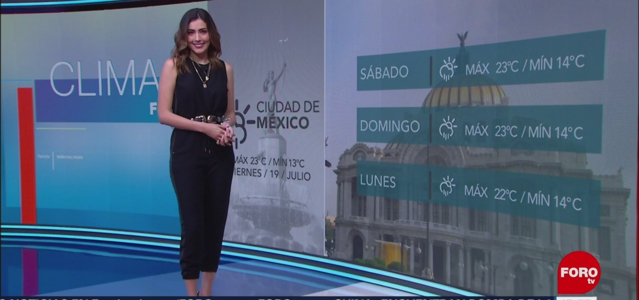 El Clima 'A las Tres' con Daniela Álvarez del 19 de julio de 2019