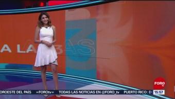 El Clima 'A las Tres' con Daniela Álvarez del 24 de julio de 2019
