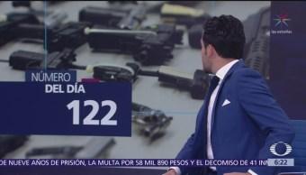El número del día: 122