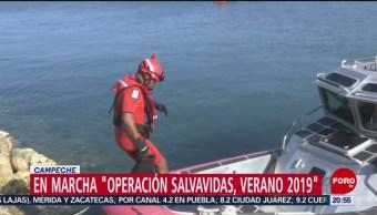 FOTO:En marcha 'Operación Salvavidas, Verano 2019' en Campeche, 6 Julio 2019