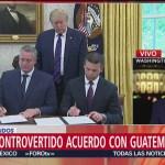 Estados Unidos Guatemala Firman Acuerdo Tercer País Seguro