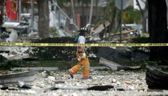 fOTO: La explosión arrojó grandes trozos de escombros a unos 91 metros por la calle, 6 julio 2019