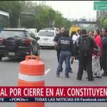 Foto: Federales abren parcialmente el paso en Constituyentes