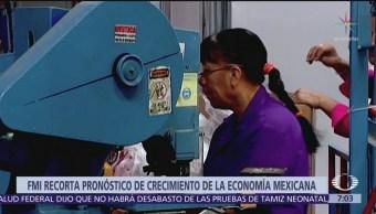 FMI recorta pronóstico de crecimiento de la economía mexicana