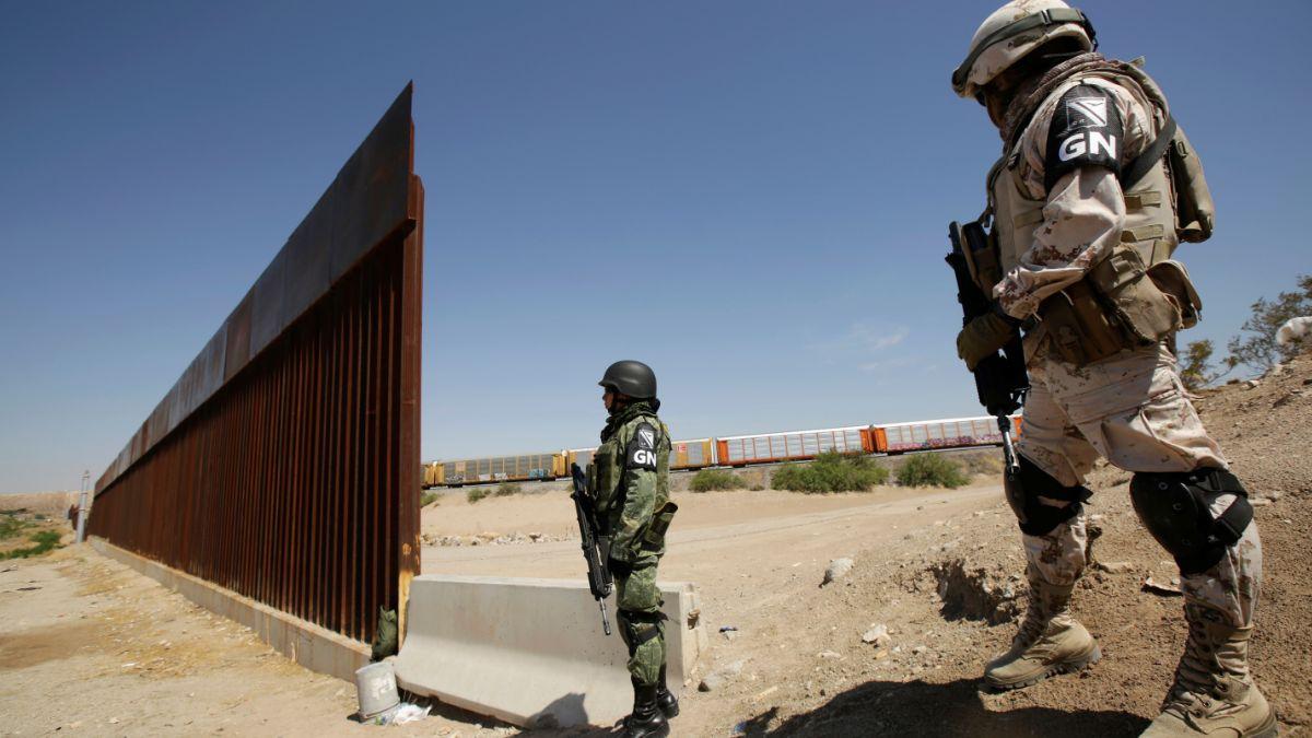 Foto: Miembros de la Guardia Nacional son vistos en la frontera de EEUU y México. El 28 de junio de 2019
