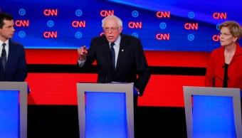 Foto: Debate de los precandidatos demócratas en Detroit, Michigan, EEUU. El 30 de julio de 2019. Reuters