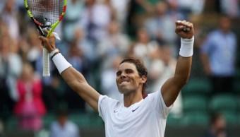 Foto: Rafael Nadal celebra después de ganar su partido de cuartos de final contra Sam Querrey en Wimbledon. El 10 de julio de 2019