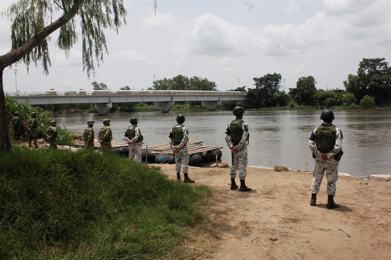 Foto: Guardia Nacional en la Frontera Sur, 3 de julio 2019. EFE