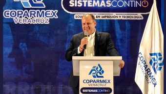 Foto: Gustavo de Hoyos, presidente de la Coparmex, 9 de julio 2019. Twitter @gdehoyoswalther