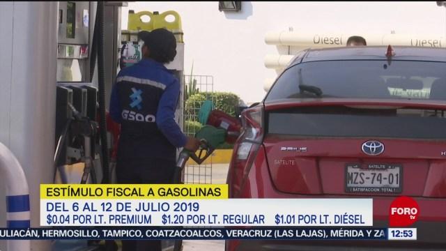 Hacienda subsidiará con 4 centavos el litro de gasolina