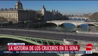 Historia de los cruceros en el Río Sena