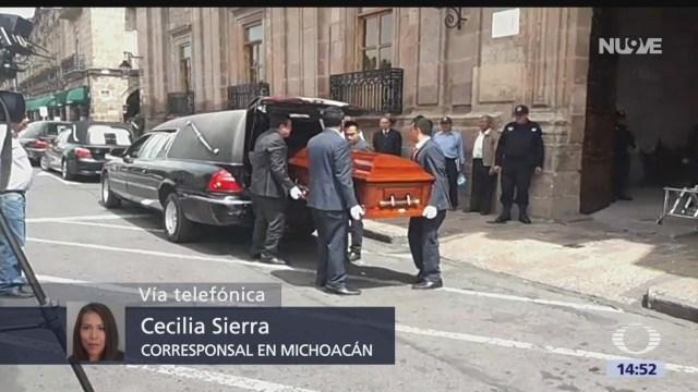 Foto: Homenaje Póstumo Funcionarios Muertos Caer Helicóptero Michoacán 25 Julio 2019