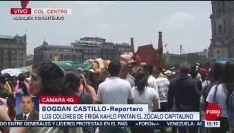 FOTO: Hoy cierra la exposición 'Los colores de Frida' en el Zócalo, 7 Julio 2019