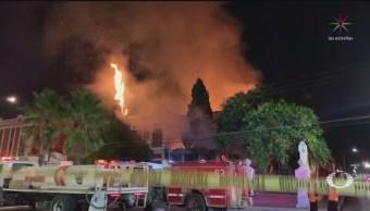 Foto: Incendio Consume Emblemática Casa Alameda Saltillo 18 Julio 2019