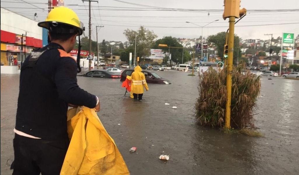 Foto: inundación en Puebla, 11 de julio 2019. Twitter @PCPueblaCapital
