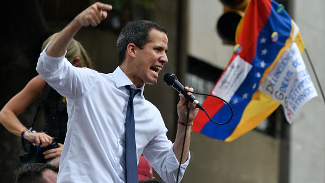 Imagen: Guaidó envió en mayo una carta a la OEA para iniciar los procesos de reincorporación al TIAR, el 7 de julio de 2019 (Getty Images, archivo)