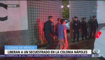 Liberan a secuestrado en la colonia Nápoles, CDMX