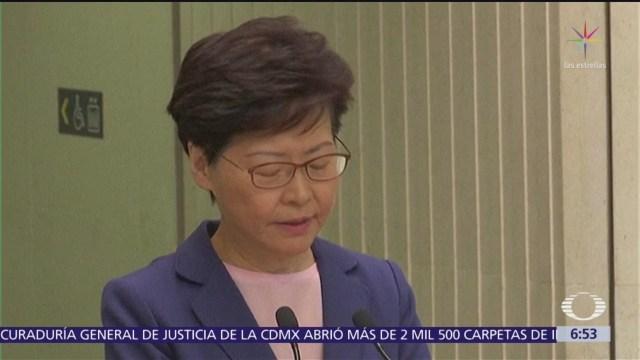 Líder de Hong Kong anuncia 'muerte' de proyecto de ley de extradición