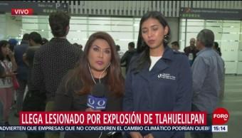 Llega CDMX lesionado explosión Tlahuelilpan