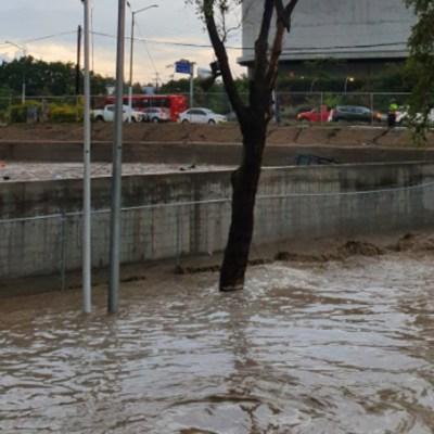 Lluvia en Guadalajara y Zapopan inunda calles